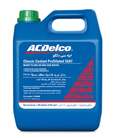 ACDelco Classic Coolant PreDiluted 33/67